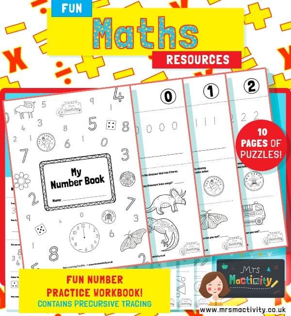Number Practice Workbook 0-10