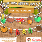 Autumn Display Bunting Shapes