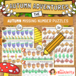 Autumn Missing Number Activity - Counting in 2, 5 and 10
