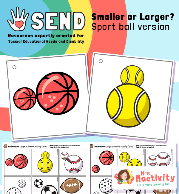 SEND P8 Smaller or Larger Activity