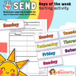 SEND P8 Days of the Week Sorting Activity