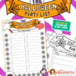 Halloween Party List Writing Activity