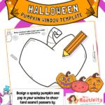 Halloween Pumpkin Window Poster