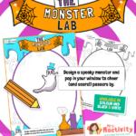 Halloween Design Your Own Monster Poster