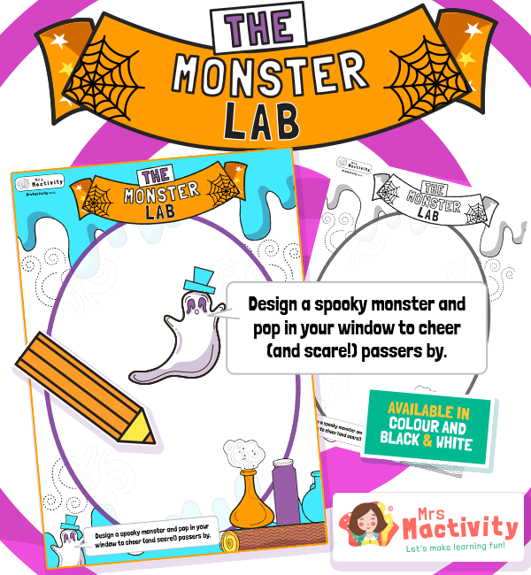 Halloween Design Your Own Monster Poster