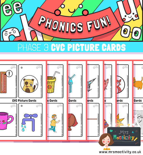 Phase 3 phonics picture cards