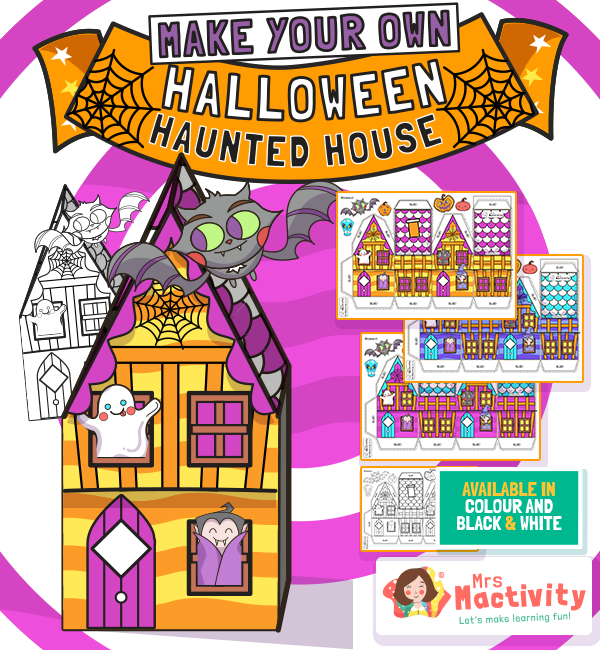 Halloween Haunted House Craft Activity