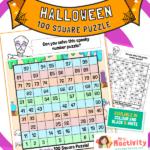 KS1 Halloween Maths 100 Square Puzzle