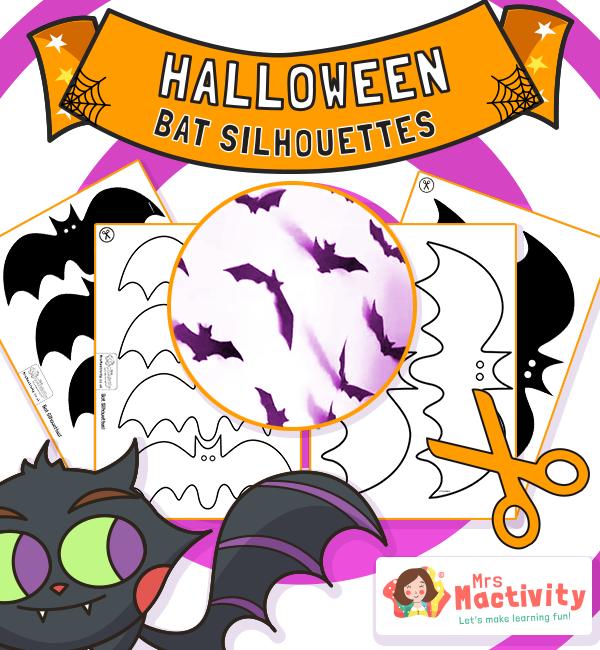 Halloween Bat Silhouette Decorations