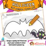 Halloween Bat Window Poster