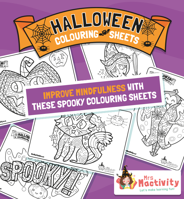 Halloween Mindfulness Colouring Sheets