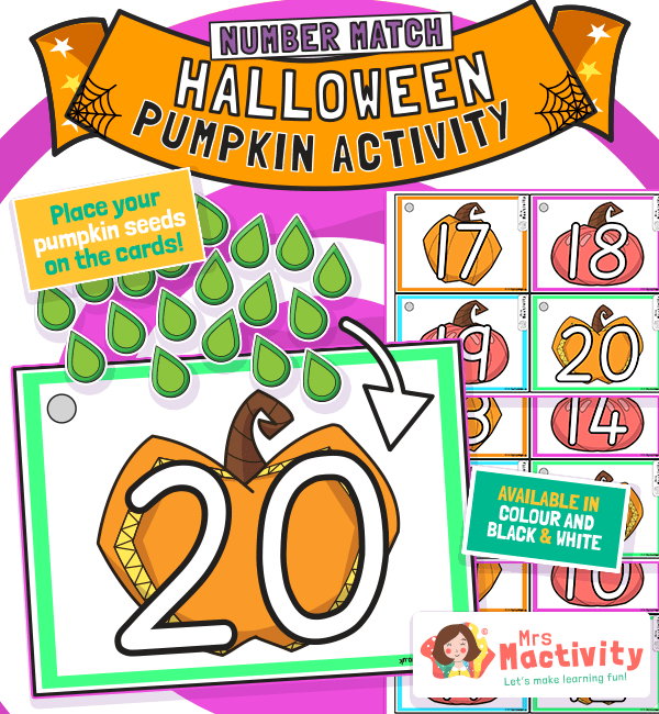 Halloween Pumpkin Counting Activity