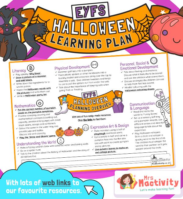 Halloween EYFS Planning Overview