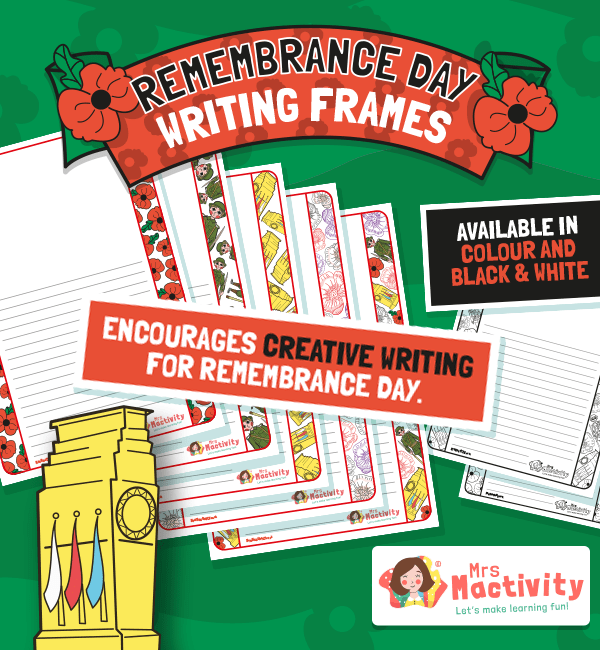 Remembrance Day Writing Frames