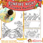 Bonfire Night Firework Painting Activity