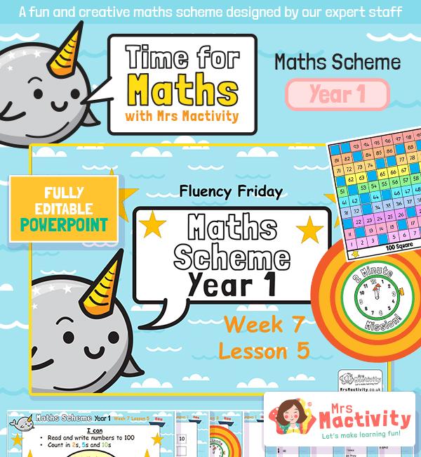 Maths Scheme Year 1 Week 7 Lesson 5 - Fluency Friday