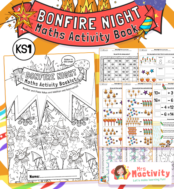 KS1 Bonfire Night Maths Activity Booklet