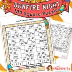 KS1 Bonfire Night 100 Square Puzzle