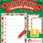 Remembrance Day Acrostic Poem Activity