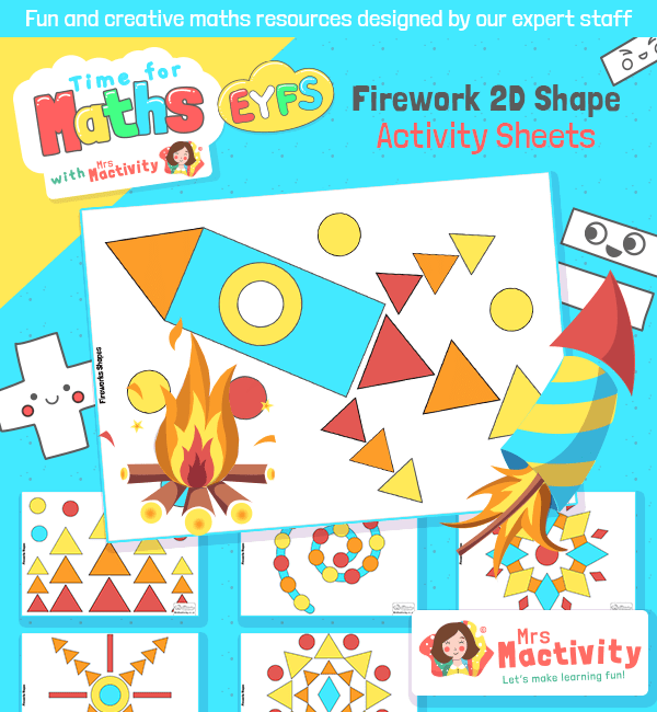 Firework 2D Shape Activity Sheet