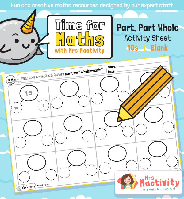 Year 1 Part Part Whole Activity Sheet