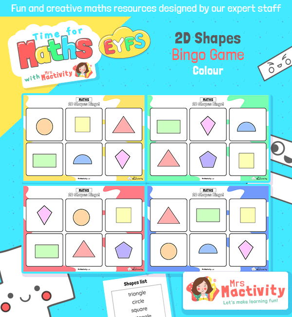 2D Shapes Bingo Game