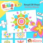 Rangoli 2D Shape Activity Sheets