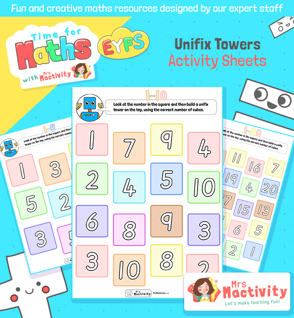 Unifix Towers Activity Sheet