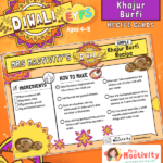 Diwali Khajur Burfi Recipe Cards