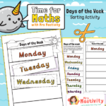 Days of the week sorting worksheet
