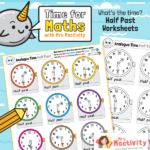 Telling the Time to the Half Hour Worksheet