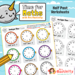 Draw on the Time to the Half Hour Worksheet