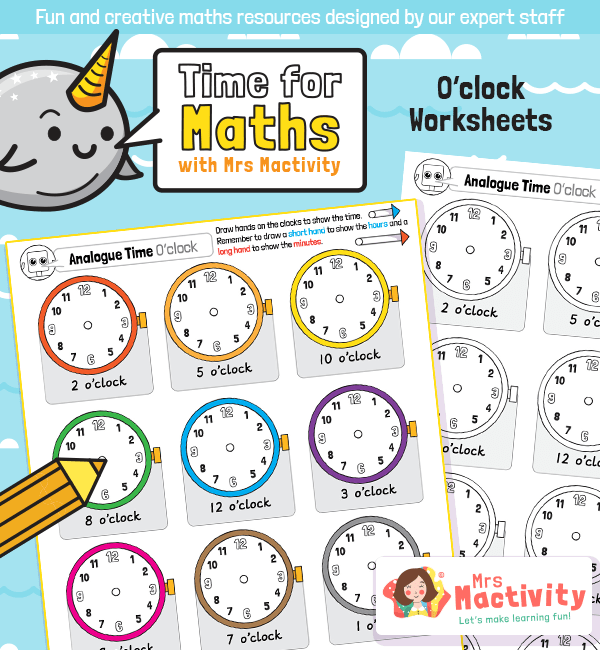 Draw on the Time to the Hour Worksheet