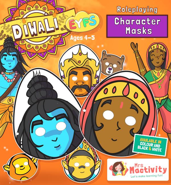 Diwali Role-Play Masks