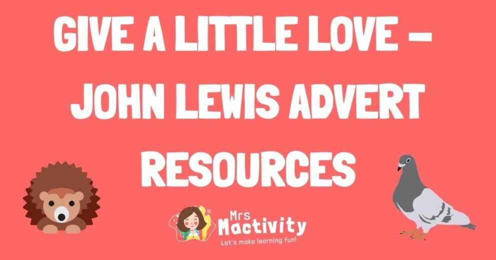 John Lewis 2020 Advert Teaching Ideas