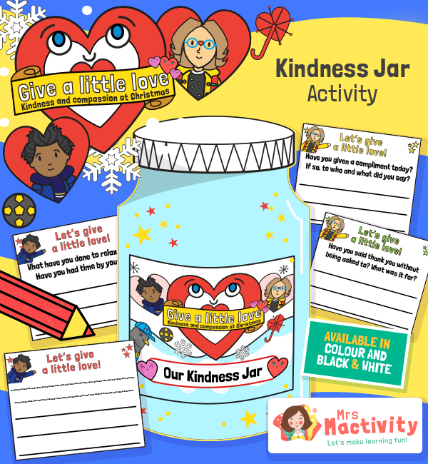 Give a Little Love Kindness Jar Activity