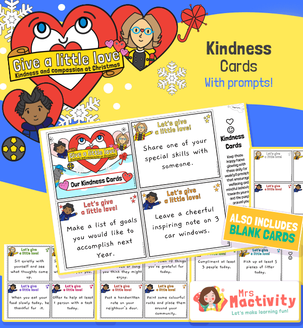 Give a Little Love Kindness Cards