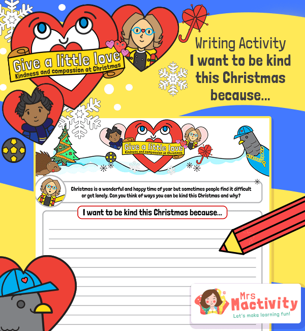 I Want to be Kind Writing Activity
