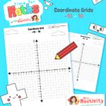 Four Quadrants Blank Co-ordinates Grid