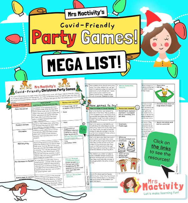 Covid Friendly Christmas Party Classroom Games