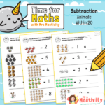 Year 1 Animal Subtraction Within 20 Worksheet