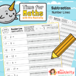 Year 1 Number Line Subtraction Within 20 Worksheet
