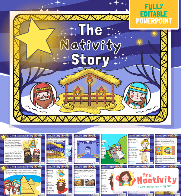 EYFS and KS1 The Christmas Story Nativity PowerPoint