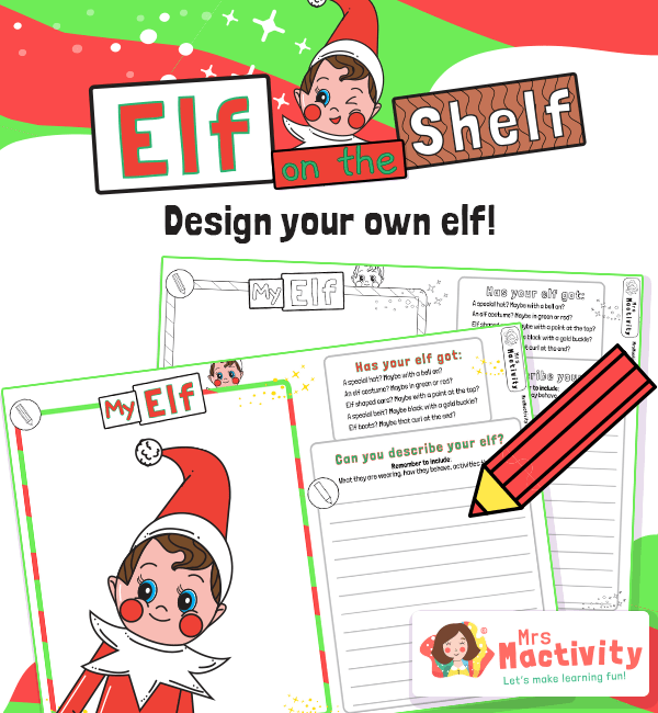 Elf on the Shelf Design Your Own Elf Activity