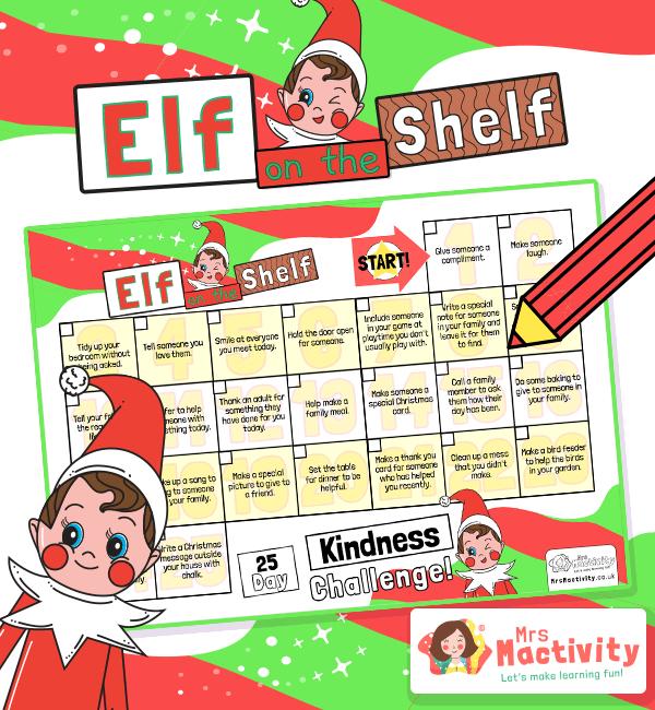 Elf on the Shelf Daily Kindness calendar