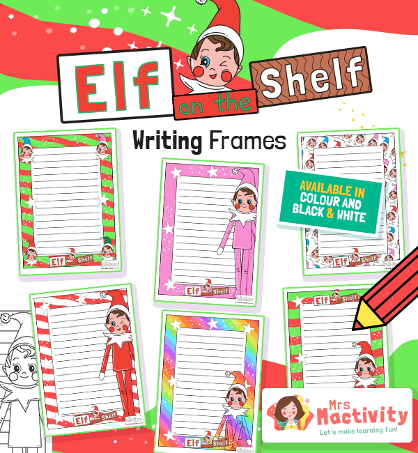 Elf on the Shelf Writing Frames