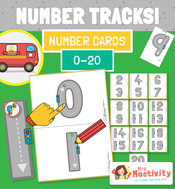 Number Formation Cards to 20 - Road Themed