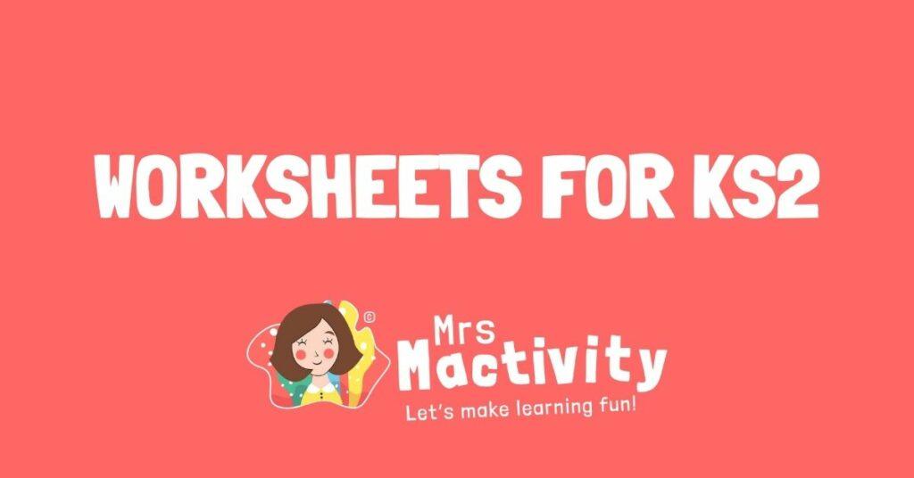 worksheets for KS2