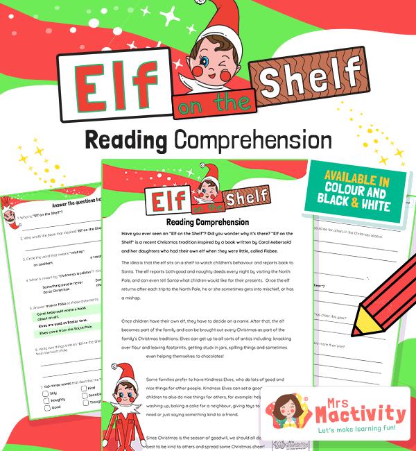 Elf on the Shelf Reading Comprehension