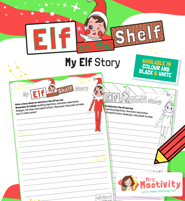 Elf on the Shelf Story Writing Activity